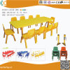 2018 Dernière table rectangle en bois de la maternelle pour les enfants