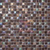 Mezcla de vidrio de colores del arco iris de color marrón mosaico de piedra (CS013)
