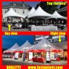 屋外党のための携帯用十字ケーブルの小尖塔のテント6X6m 6m x 6m 6 6X6 6mによって6 40人のSeaterのゲスト