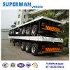 40FT 3 Flatbed Aanhangwagen van het Vervoer van de Container van de As