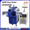 200W joyería láser de la máquina de soldadura por puntos de metal con Chiller