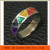 Triángulo Stones&#160 de la joyería 6PCS de la manera; Anillo del acero inoxidable (CZR2587)