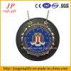 Metal Material Soft Enamel Leather Badge Holder