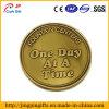 La doratura elettrolitica antica incisa esprime la moneta del metallo