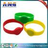 Wristband para los acontecimientos, pulsera impermeable del Lf RFID del silicón de la viruta Tk4100