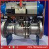 Válvula de bola flotante de acero fundido con actuador eléctrico