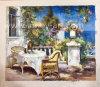 Paisagem mediterrânica pintura a óleo Home Acessórios para Móveis