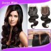 3.5*4inch Cheap Remy Body Wave Virgin Hair cambogiano Lace Closure Middle Parte (CL-015)