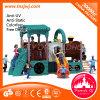 Пластичные дети темы автомобиля игрушки сползают напольную спортивную площадку