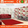 Rojo romántico papel de la pared de vinilo floral para la decoración interior