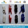 Sujetadores de clip plásticos coloreados alta calidad de la divisa del cocodrilo de moda