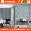 Papier peint décoratif floral et de raie de PVC de vinyle pour le projet