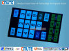 RoHS passen kundenspezifischer EL Backlit Membranschalter-Tastaturblock an