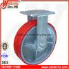 8 Zoll PU auf Eisen-örtlich festgelegter Fußrolle