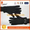 Перчатки хлопка или полиэфира Ddsafety 2017 черные с миниыми многоточиями на ладони