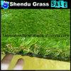 grama artificial da paisagem de 25mm com toda a cor verde