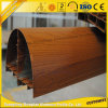 Ventana de aluminio del grano de madera 6063 para la decoración interior