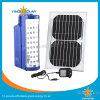 Ventilatore solare con la lanterna di campeggio solare per l'emergenza Using