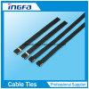 O sperren Reißverschluss-Gleichheit-Kurbelgehäuse-Belüftung abgedeckten Edelstahl-Kabelbinder