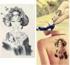 El geisha de Japón modela la etiqueta engomada temporal impermeable del tatuaje