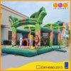 子供の販売(AQ01104)のための緑の膨脹可能な運動場のサファリ公園の障害