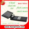Telemóvel duplo da tevê da faixa SIM do quadrilátero T9020, Touchpad
