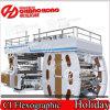 Impresora central económica del tambor de 6 colores/impresora flexográfica de alta velocidad