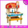 Новые дети претендуют стенд W03D083 инструмента малышей игрушек инструментального ящика игры деревянный