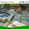 Forme de u fil Gazon synthétique pour jardin (CS)