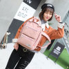 Comercio al por mayor nuevo diseño de lienzo coreano Ocio mochila de la Escuela Media
