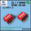 2.54mm Right Angle DIP Switch Red Color