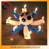Candela girante di compleanno di musica di calcio del trofeo