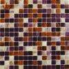 Kleur van de Tegel van het Mozaïek van het Glas van de Kleur van de mengeling de Rode en Bruine (MC204)