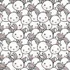 Tessuto bello della stampa dei conigli per il tessuto di Lycra del cotone