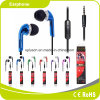 Écouteur de câble bleu de la vente 2017 chaude avec la MIC