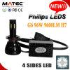 Haut Lumen 9600lm 6000k G6 Voiture projecteur LED H7