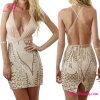 2017 tiefer v-Stutzen-Backless Frauen-Kleid