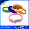 Bracelete de silicone pulseiras banda Unidade Flash USB 2.0