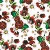 Tela tejida impresa flor de la ropa del poliester de Digitaces