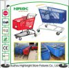 chariot en plastique de chariot à achats de panier du supermarché 120L