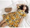 Sommer-Form-Blumendruck-langes Kleid-Chiffon- neue Art-Frauen-Kleider