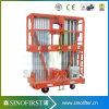 6m à l'échelle hydraulique d'alliage d'aluminium du levage 10m électrique mobile