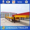 3 Aanhangwagen van de Vrachtwagen van Lowbed van de Aanhangwagen van het Bed van de as 60t de Lage Semi