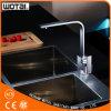 Grifo cuadrado Finished aplicado con brocha del fregadero de cocina de la dimensión de una variable del níquel PVD