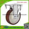 Industrielle Nylonmitte PU-örtlich festgelegte Fußrolle