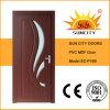 Portes en PVC MDF intérieures d'ingénierie avec verre (SC-P169)