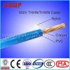 Fio Thhn 600V, Revestimento de Nylon Fio Elétrico de Cobre Thwn-2 MTW