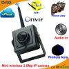 2.0 Câmera de correia fotorreceptora sem fio da rede do IP da miniatura de Megapixel