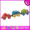 O brinquedo de madeira para o bebê, mini brinquedo de madeira do caminhão quente da tração da venda 2015 do caminhão da tração, finge o brinquedo do caminhão da tração do jogo para as crianças W05c028