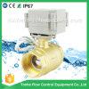 1 1/4  robinet à tournant sphérique motorisé par soupape électrique en laiton de pouce Dn32 AC/DC 9-36V